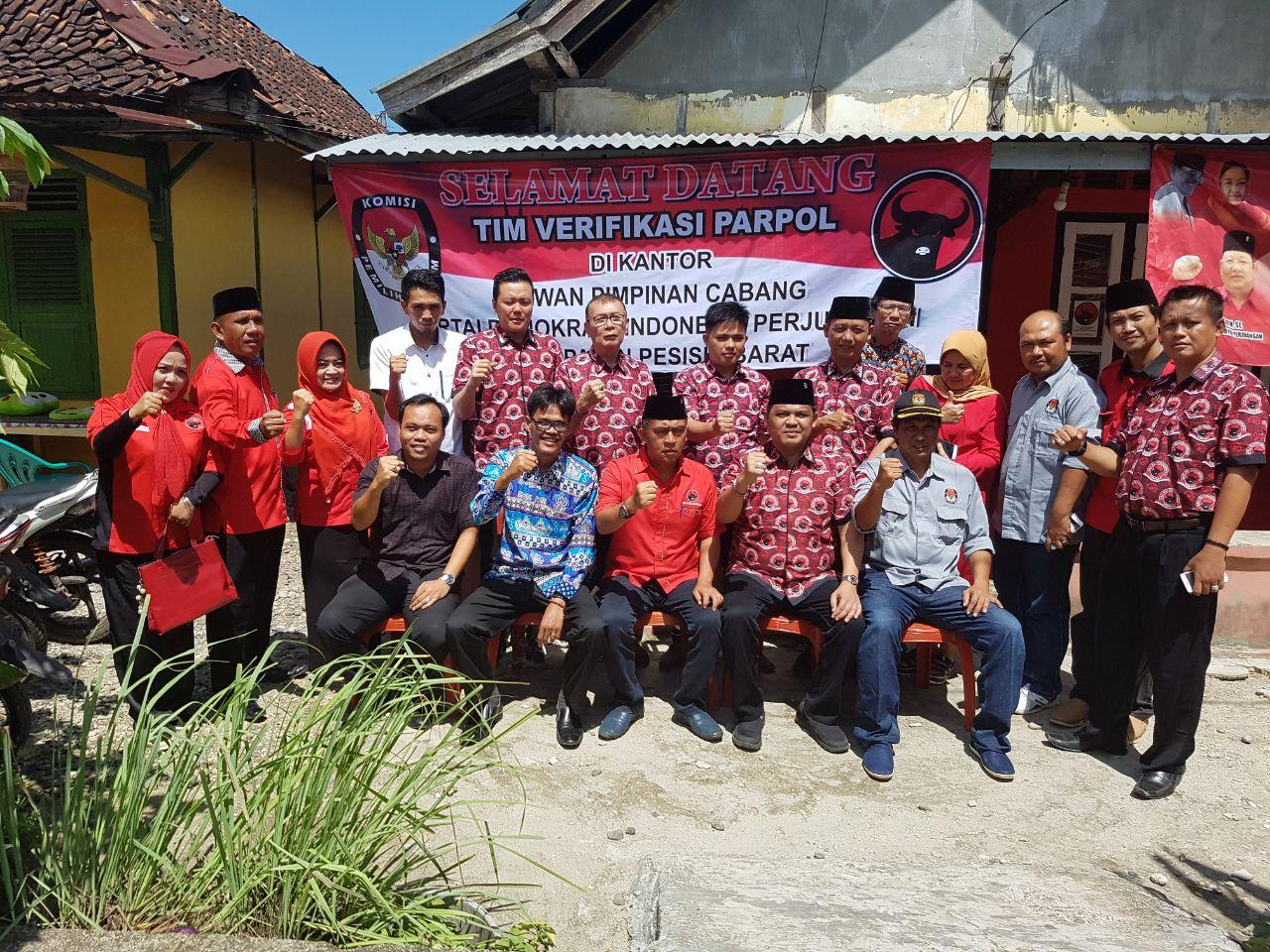 Penuhi Syarat Verivikasi, PDIP Pesisir Barat Melaju di Pemilu 2019