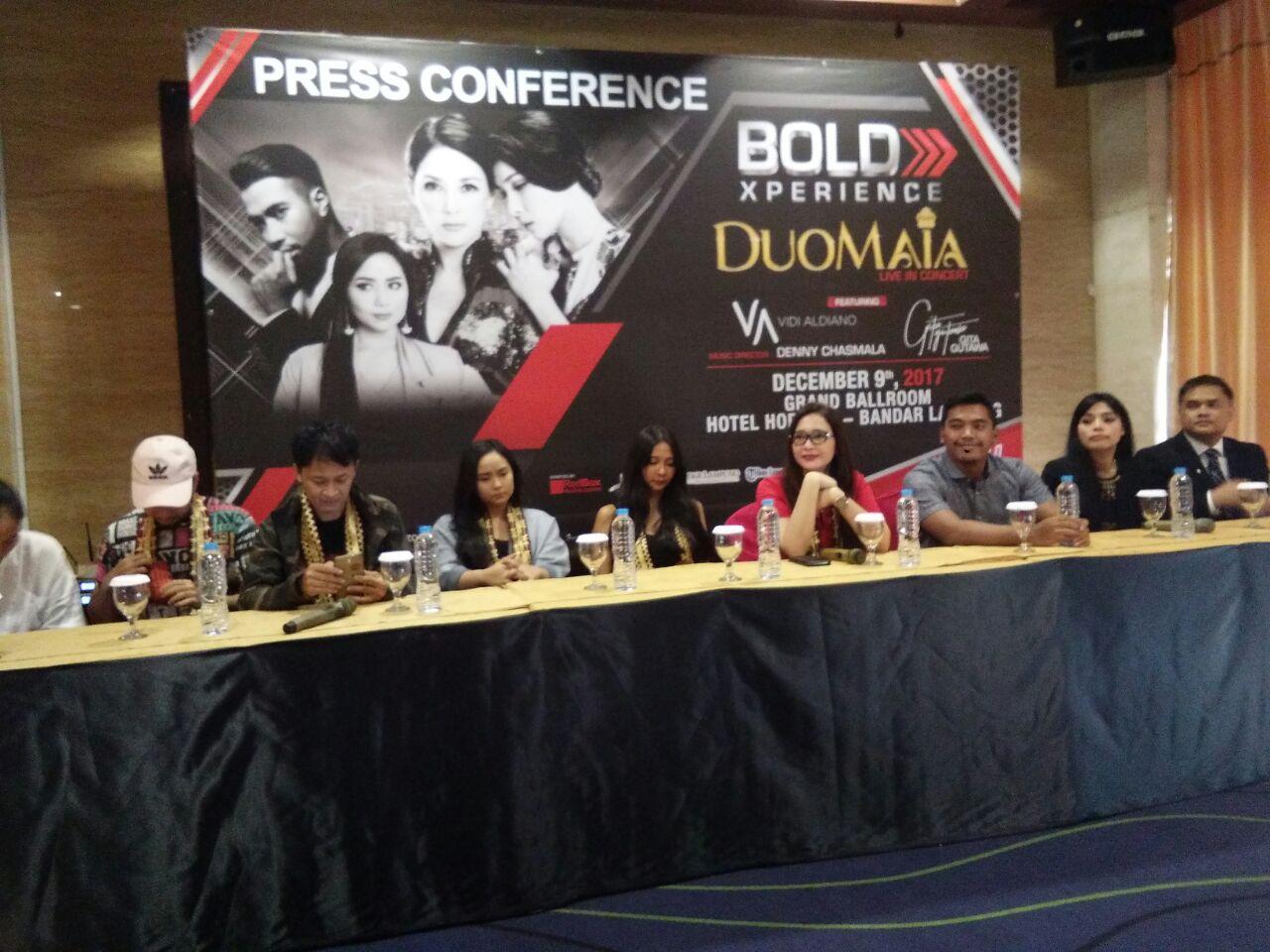LAMPUNG POST   Bandar Lampung Menutup Konser Duo Maia Live in Concert 2017