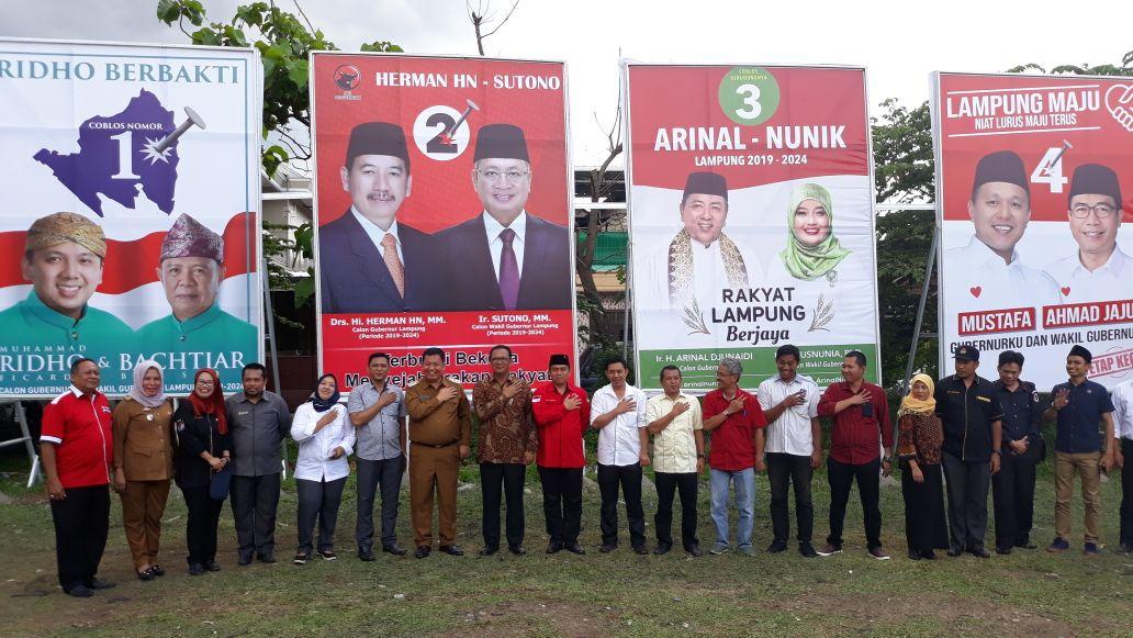 KPU Provinsi Mulai Tebar Bahan Kampanye Pilgub 2018 di Waydadi