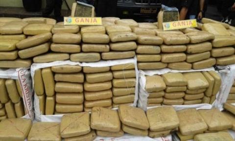 LAMPUNG POST   Penyelundupan 110 Paket Ganja di Bakauheni Digagalkan