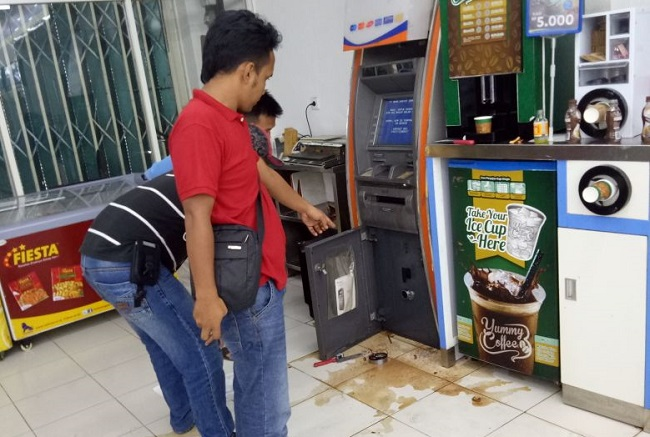 LAMPUNG POST | Pelaku Pembobolan ATM BRI di Indomaret Bukit Kemuning Ditangkap