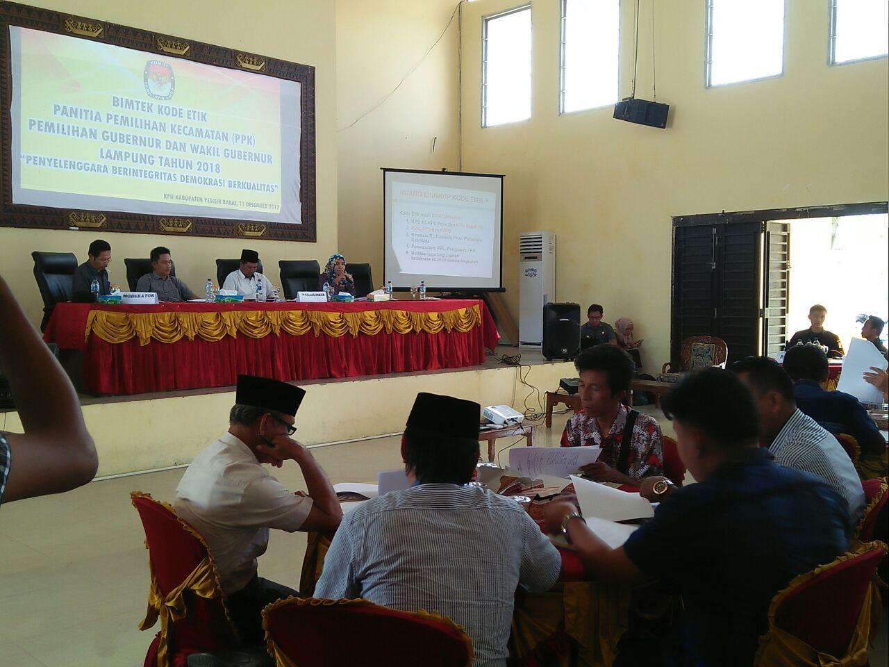 LAMPUNG POST | KPU Pesisir Barat Gelar Bimtek untuk  Panitia Pemilihan Kecamatan