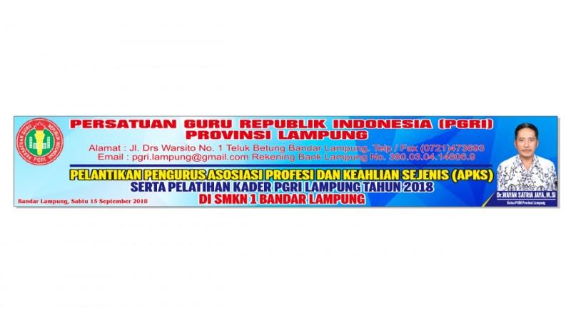 Adi Sucipto Bakal Dilantik Sabagai Ketua APKS PGRI Lampung