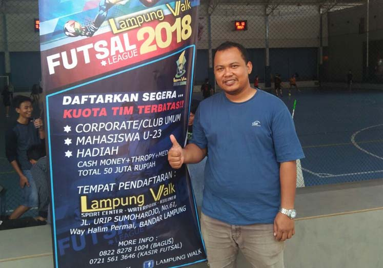 Kick-off Kompetisi Futsal Lampung Walk Awal April