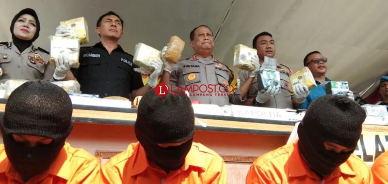 Amankan 58 Kg Sabu Tujuan Jakarta, Polisi Bekuk 6 Tersangka