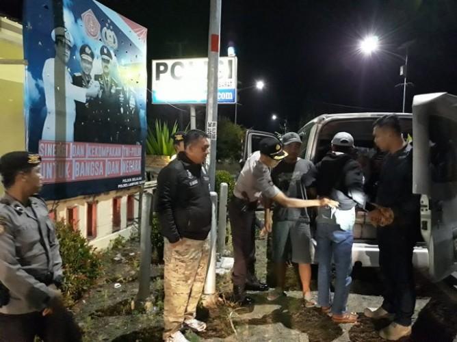 Antisipasi Tindak Kejahatan, Polres Lampung Barat Gelar Razia