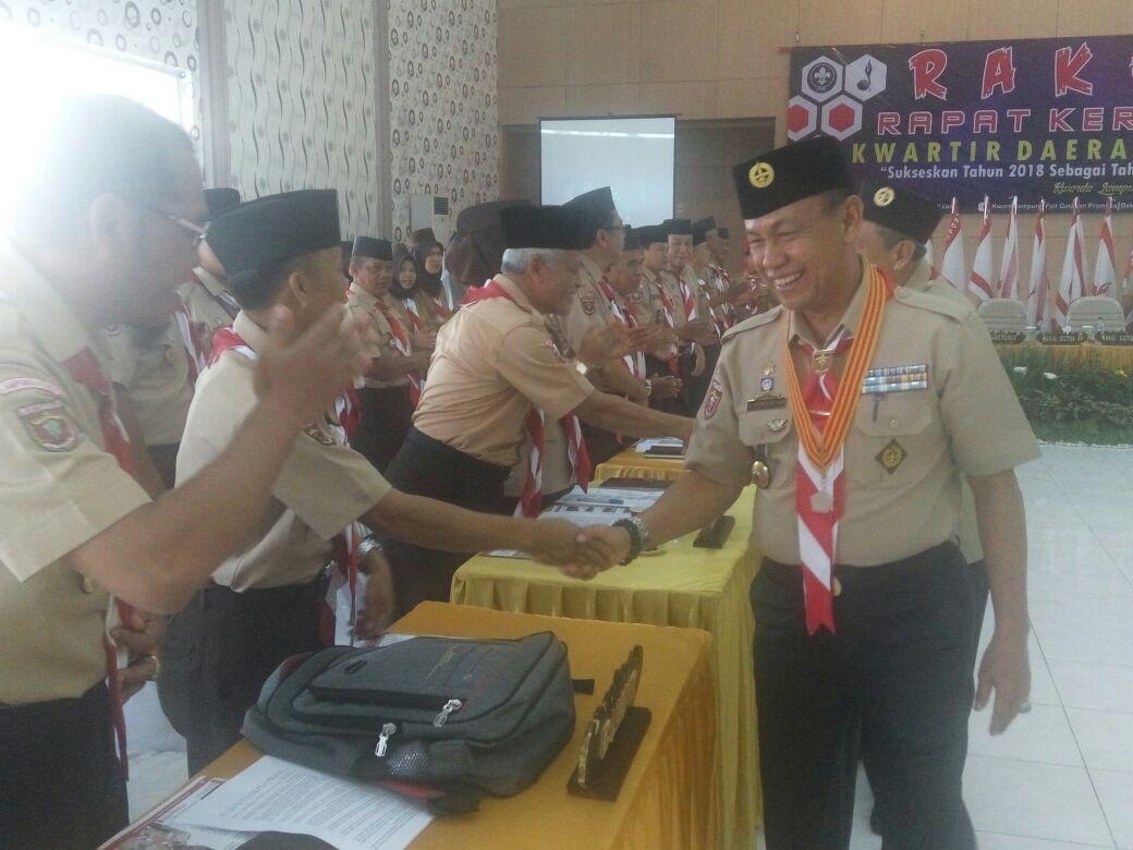 Idrus Buka Rekerda Pramuka Lampung 2018