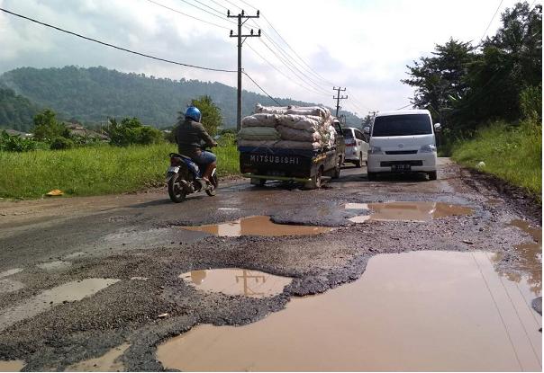 LAMPUNG POST | Jalan Rusak di Pesawaran Butuh Perbaikan