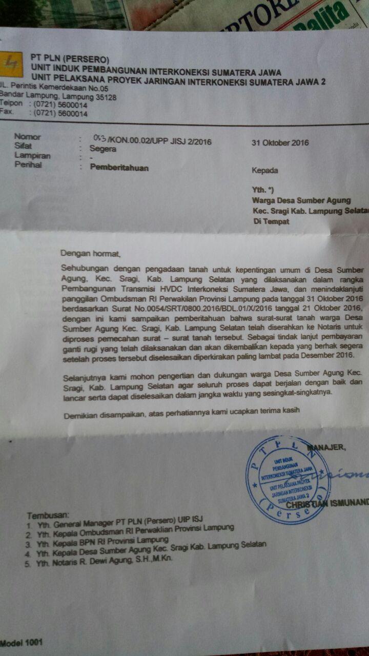 Warga Sumberagung Pertanyakan Sertifikat Tanah yang Dipinjam PLN