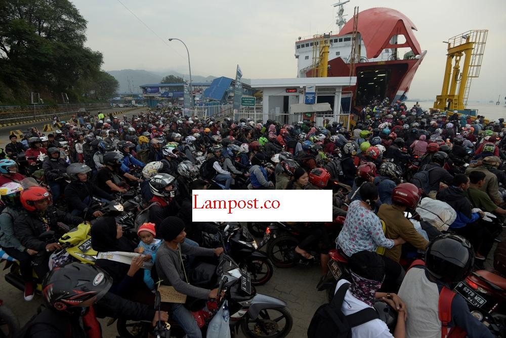 LAMPUNG POST | Pemudik Sepeda Motor Mendominasi di Lampung