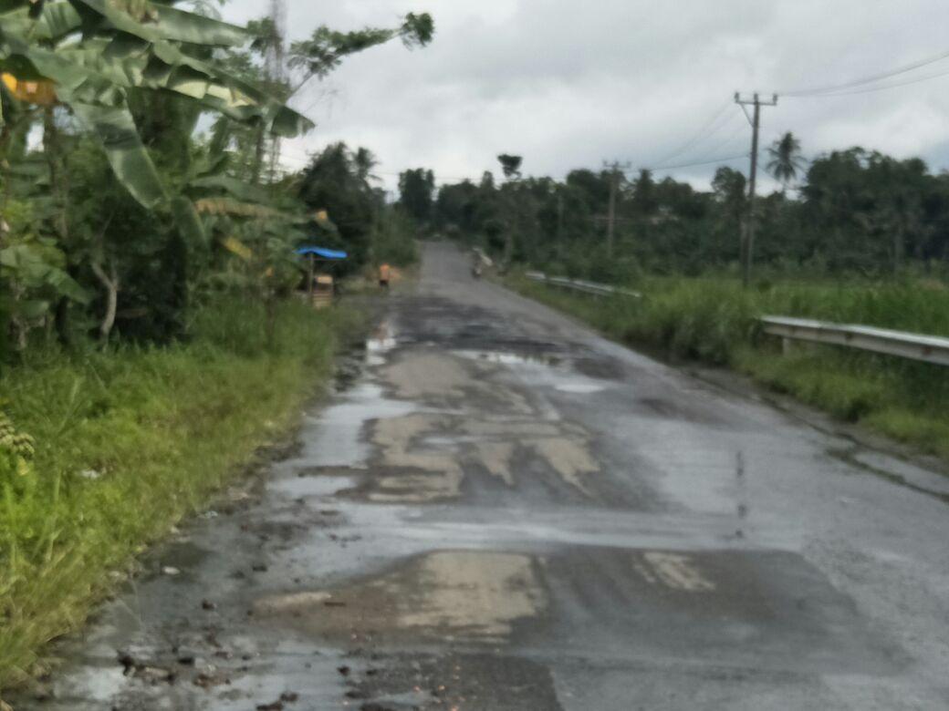 Jalan Provinsi Ruas  Simpang Ketapang, Lampung Selatan Kian Parah