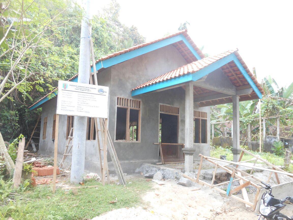 LAMPUNG POST | Pekon Lemong Bangun Balai Desa lewat Program Gerbang Saburai