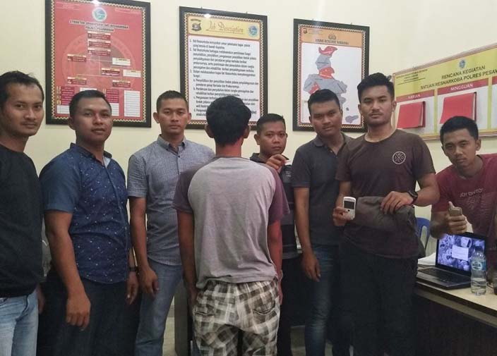 Polisi Ringkus Bandar Sekaligus Pengedar Sabu di Gedongtataan