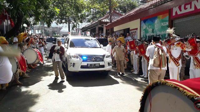LAMPUNG POST   Hadiri HUT Gerindra, Prabowo Dipanggil Presiden