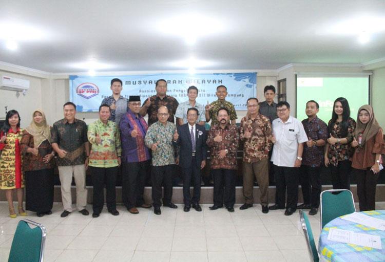 LAMPUNG POST | Andi Surya Kembali Terpilih Jadi Ketua ABP PTSI Lampung