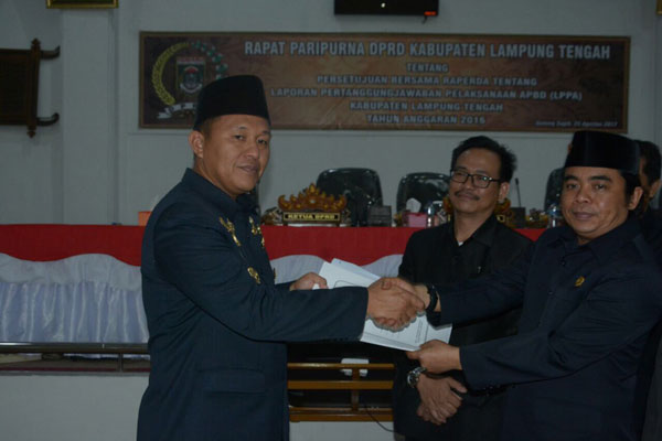 PAD Naik, Pemkab Lampung Tengah dapat Pujian dari DPRD