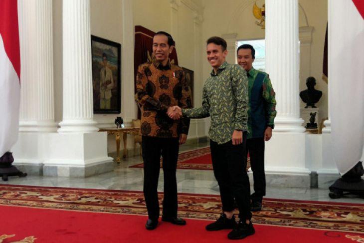 LAMPUNG POST | Jokowi Terima Egy Maulana di Istana