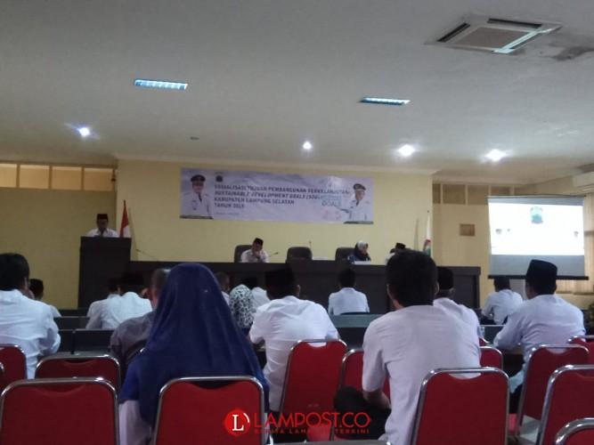 Bappeda Lamsel Sosialisasi Tujuan Pembangunan Berkelanjutan