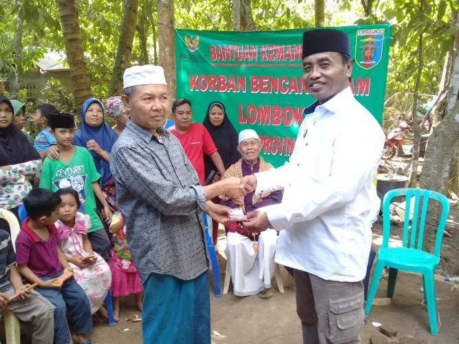 Baznas Lampung Salurkan Bantuan Langsung kepada Korban Gempa Lombok