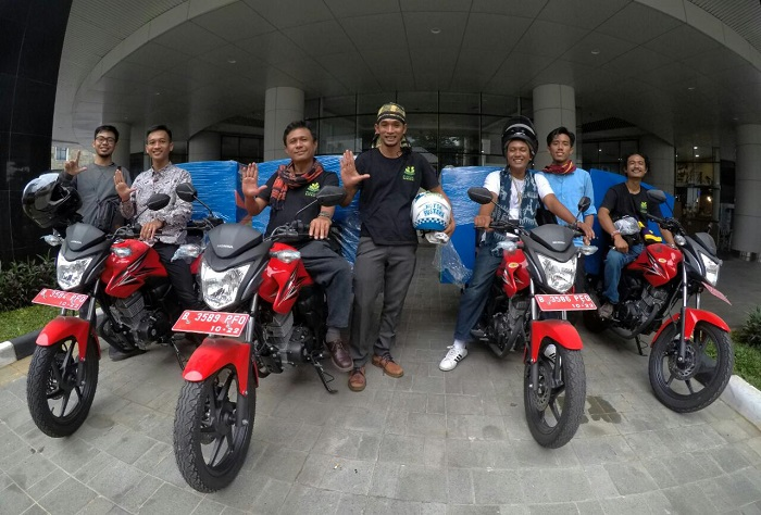 LAMPUNG POST | Penggiat Literasi Lampung Dapat Bantuan 3 Motor Pustaka