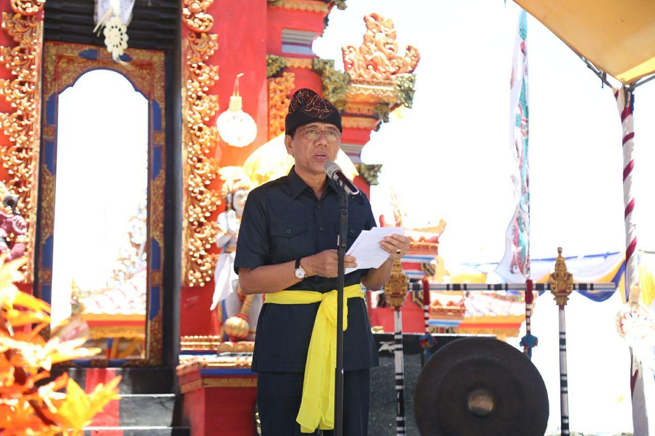 Hadiri Acara Dharma Shanti Nyepi di Marang, Sekkab Pesibar Apresiasi Umat Hindu