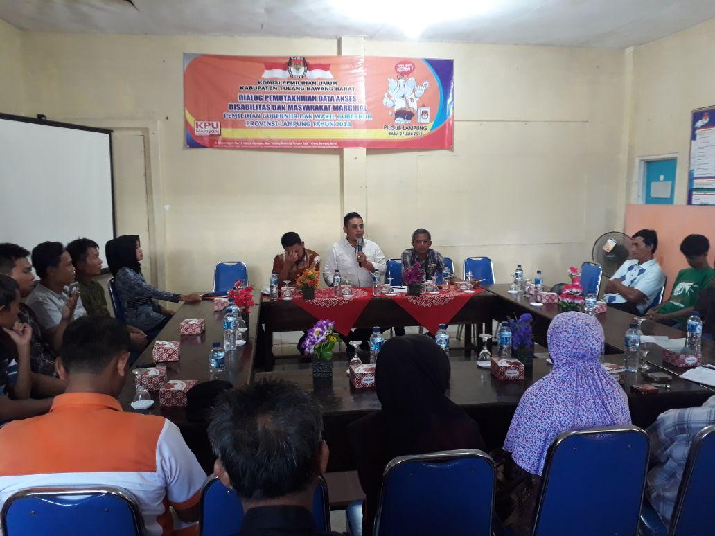 KPU Tubaba Fasilitasi Penyandang Disabilitas dalam Pilgub