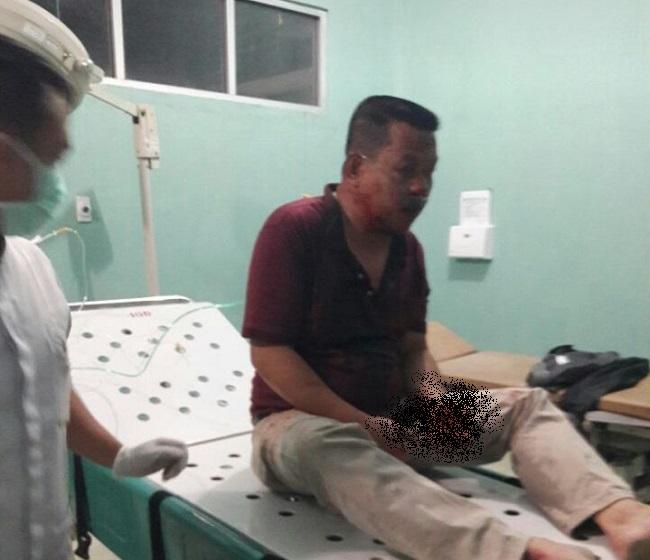 Asisten III Tubaba dan Sopirnya Selamat dari Kecelakaan Mobil