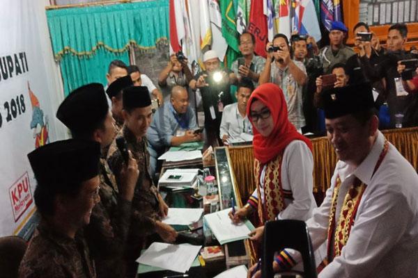 Dewi-Syafii Komitmen Menjaga Pilkada Tanggamus Aman dan Bermartabat
