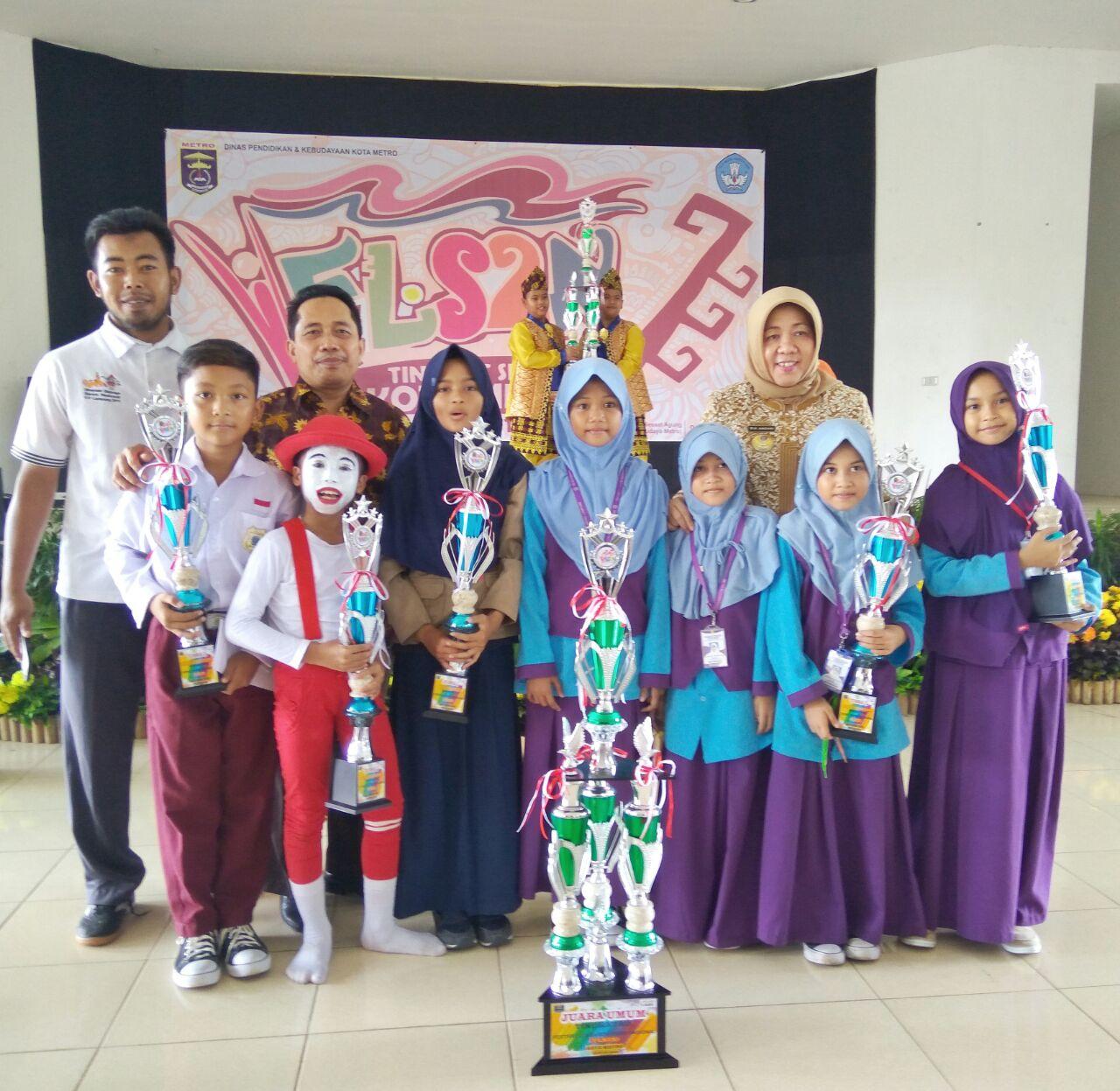 SD Muhammadiyah Metro Juara Umum FLS2N Kota Metro 2018