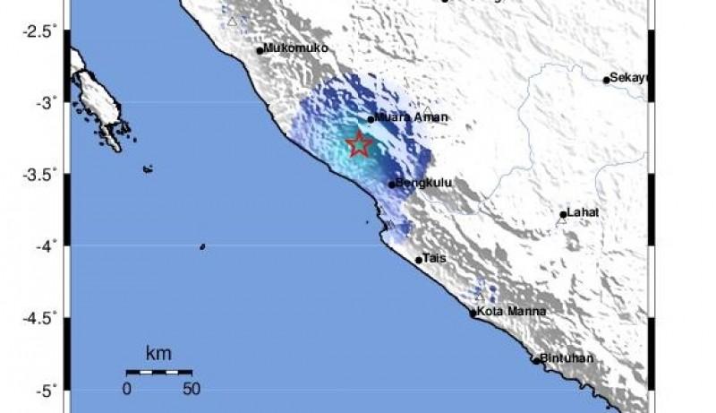 Bengkulu Dilanda Gempa 4,6 SR
