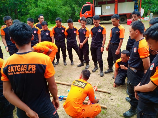 BPBD Lambar Gelar Pelatihan Satgas Penanggulangan Bencana
