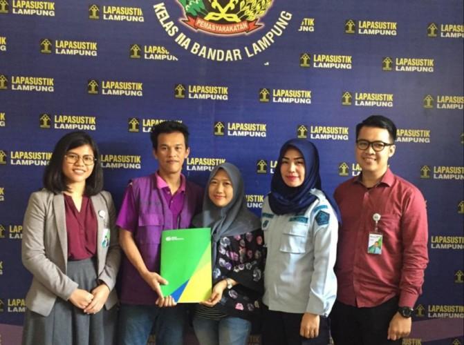 BPJSTK Bandar Lampung Berikan Layanan Pick Me Up Service kepada Peserta di Lapas