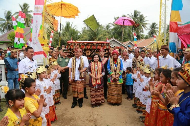 Bupati Agus Istiqlal Hadiri Penilaian Lomba Desa di Pekon Marang