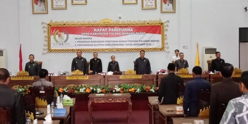 Bupati Tulangbawang Barat Sampaikan KUA-PPAS APBD Kepada DPRD