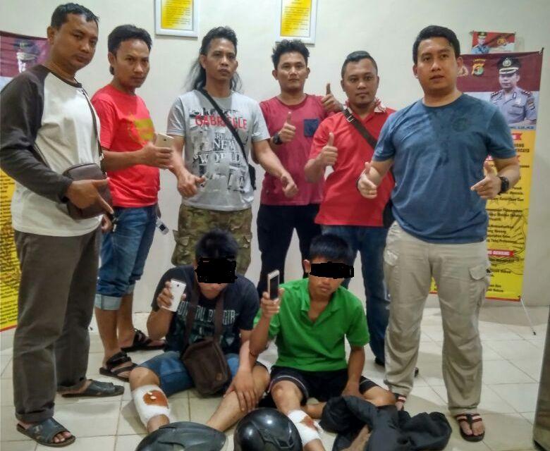 LAMPUNG POST | Usai Beraksi, Dua Penjambret di Tuba Dilumpuhkan Petugas dengan Timah Panas