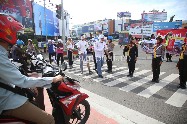 Satlantas Polresta Kampanyekan Keselamatan Berkendara