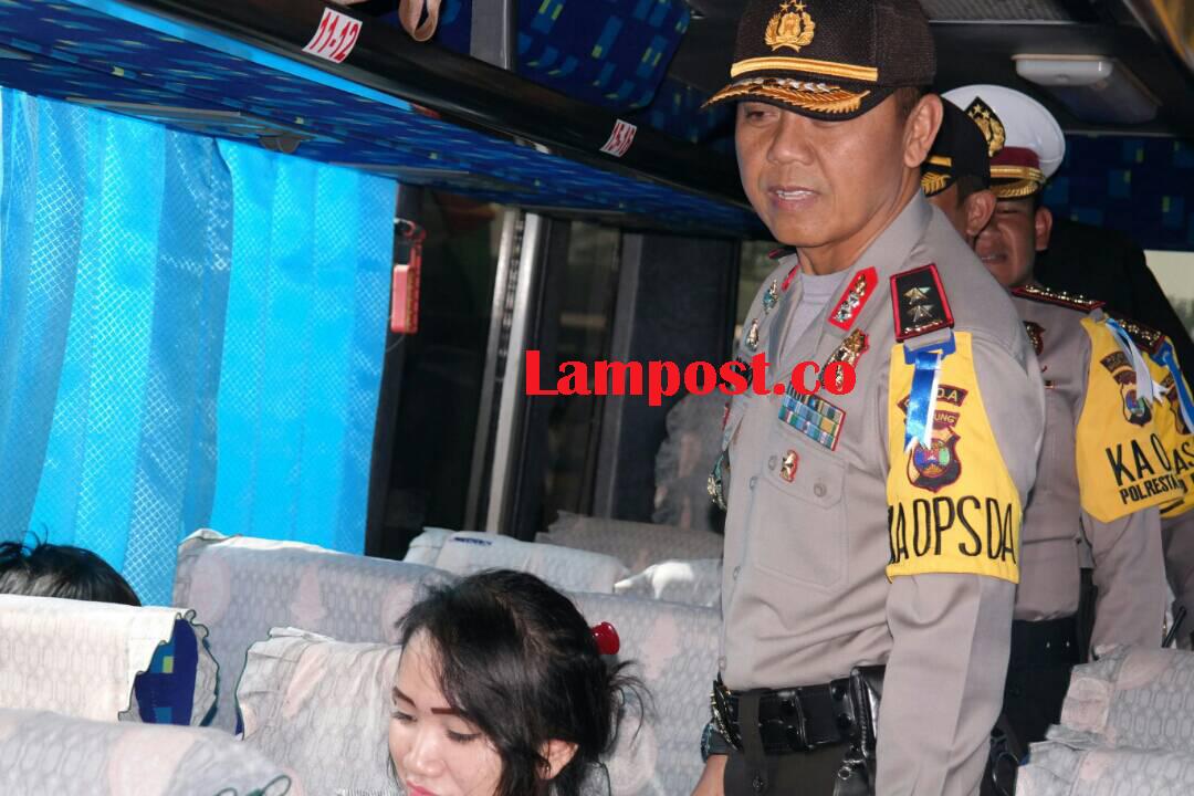 LAMPUNG POST | Polda Lampung Beri Rasa Aman dan Nyaman Pemudik