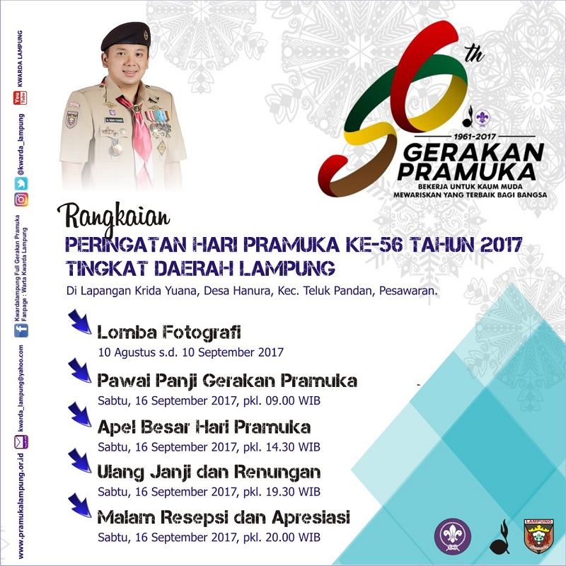 Kwarda Lampung Gelar Apel Besar Hari Pramuka ke-56