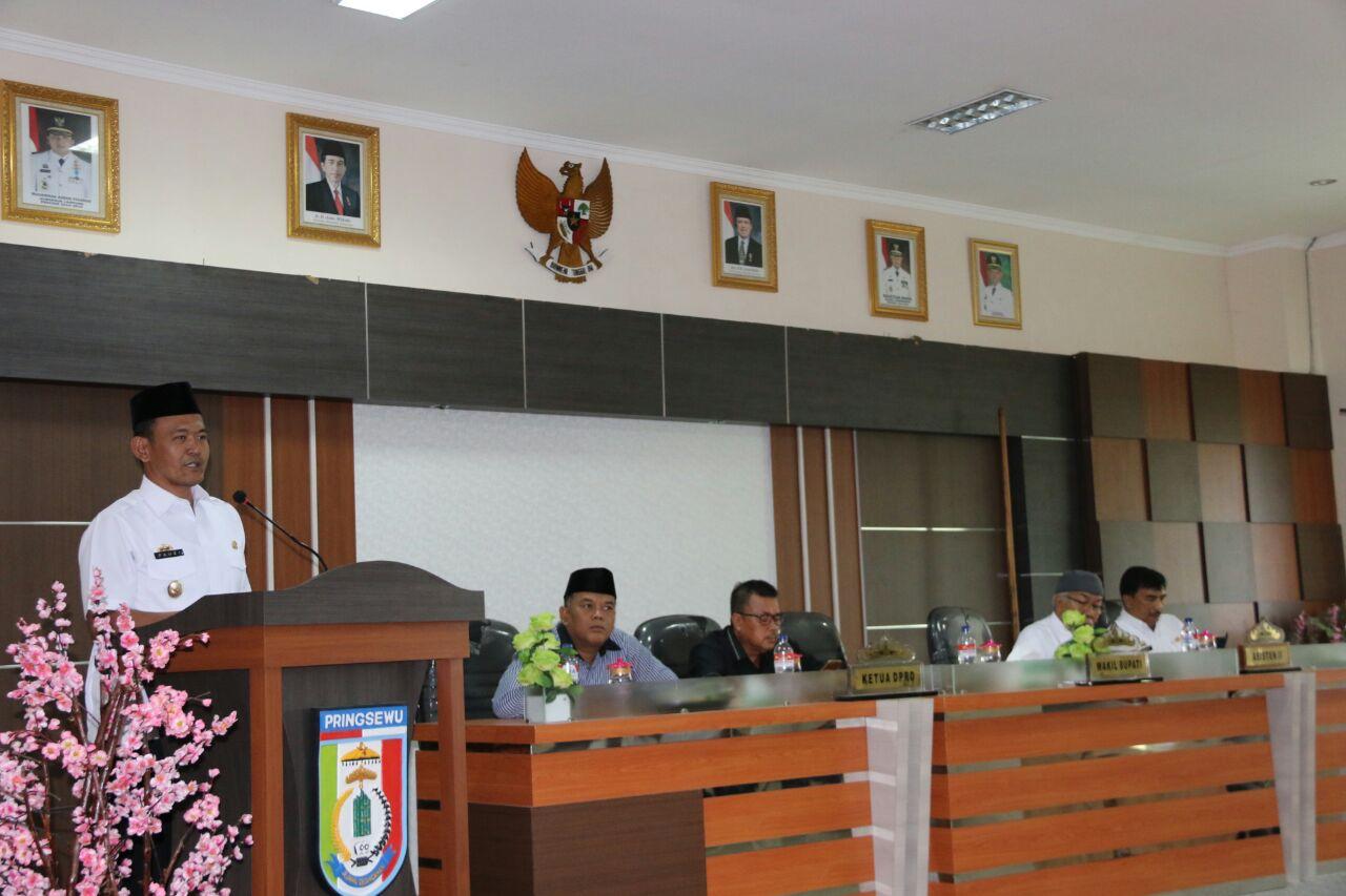 LAMPUNG POST | Pemkab Pringsewu Bangun Jalan 2 Jalur Tugu Gajah-Pasar Induk