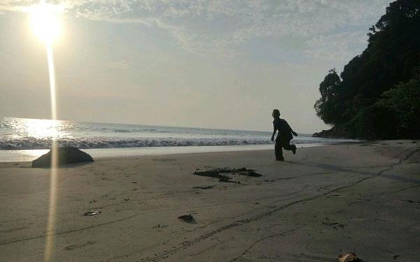 Sunset di Pantai Canti, Amat Cantik