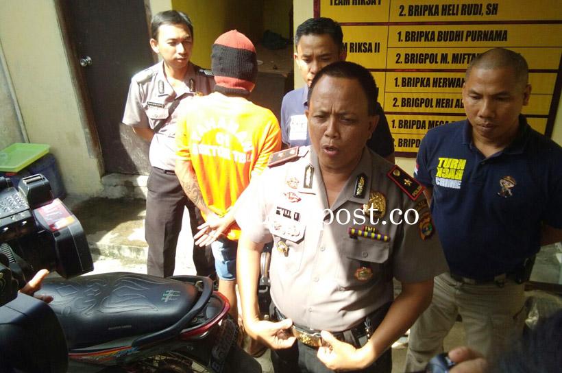 LAMPUNG POST | DPO Pembobol Dealer Ditangkap Polsek Telukbetung Utara