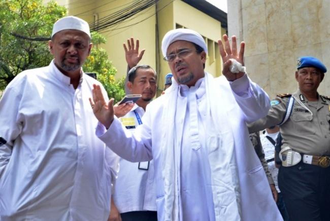 LAMPUNG POST | Kubu FPI Pertanyakan Pelaporan Rizieq Shihab di Polda Bali