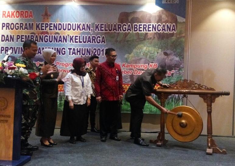 Hery Suliyanto Buka Rakerda BKKBN Lampung 2018