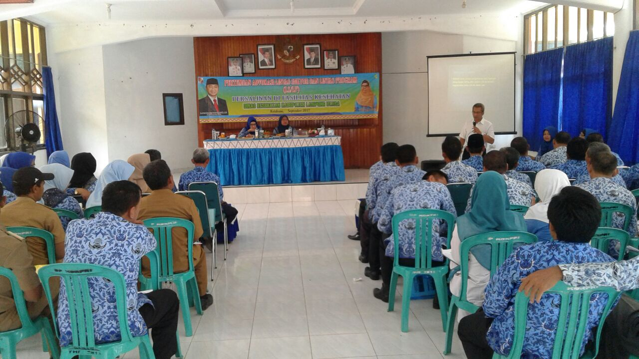 LAMPUNG POST | Dinkes Lampung Utara Gelar Advokasi Lintas Sektor Persalinan di Fasilitas Kesehatan