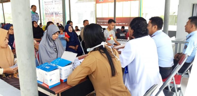 Cegah Penyebaran TBC, LP Gunungsugih Periksa Pengunjung