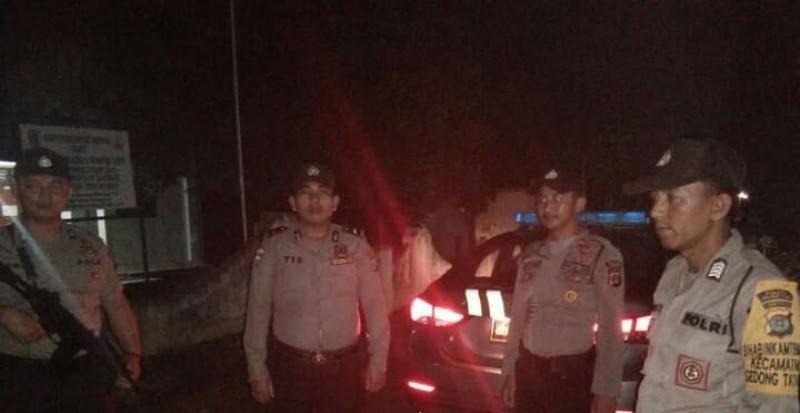 Cegah Tindak Kriminal, Polsek Gedongtataan Rutin Patroli Malam