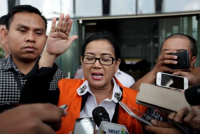 LAMPUNG POST   Eksepsi Ditolak, Miryam Siap Ikuti Proses Persidangan