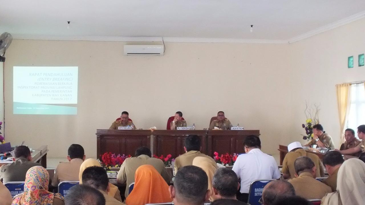 Inspektorat Provinsi Lakukan Pemeriksaan Berkala di Way Kanan