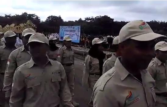 LAMPUNG POST   VIDEO: Kirab Pemuda Nusantara 2017 Tiba di Tubaba