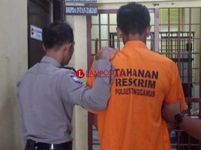 Curi Handphone Tetangga, Warga Talangpadang Diciduk Tekab 308